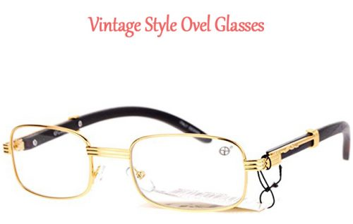 vintage style oval glasses