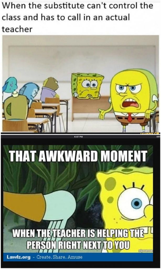 Top 20 Teacher Memes Spongebob